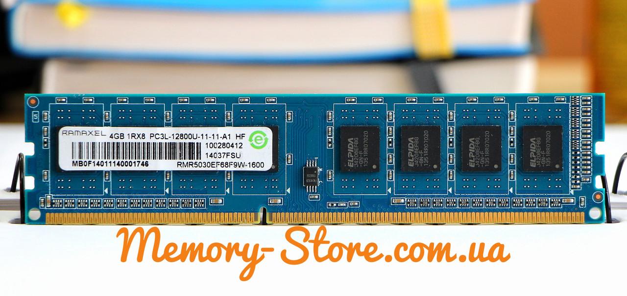 Оперативная память для ПК Ramaxel DDR3 4Gb 1Rx8 PC3L-12800 1600MHz, Intel и AMD, б/у