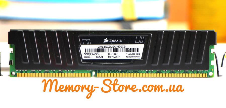Оперативная память для ПК Corsair DDR3 4Gb 2Rx8 PC3-12800 1600MHz, Intel и AMD, б/у, фото 2