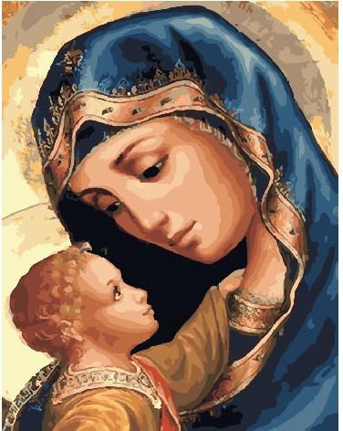 """Картина по номерам """"Матерь Божья"""", 40x50 см., Brushme"""