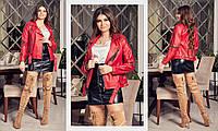 Куртка - косуха  стильная из кожи в расцветках  4172, фото 1