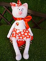 """Авторская текстильная кукла ручной работы  """"Кошечка Красавишна"""", 38 см."""