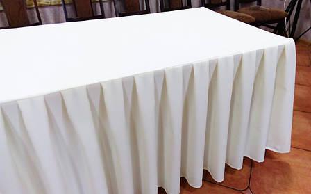 Фуршетная Юбка-Чехол на стол Стандартной высоты БЕЗ доп. Крепления, фото 2