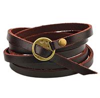 """Кожаный браслет коричневый """" Кито Dark Brown"""", фото 1"""