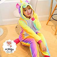 Кигуруми пижама Единорог радужный  М