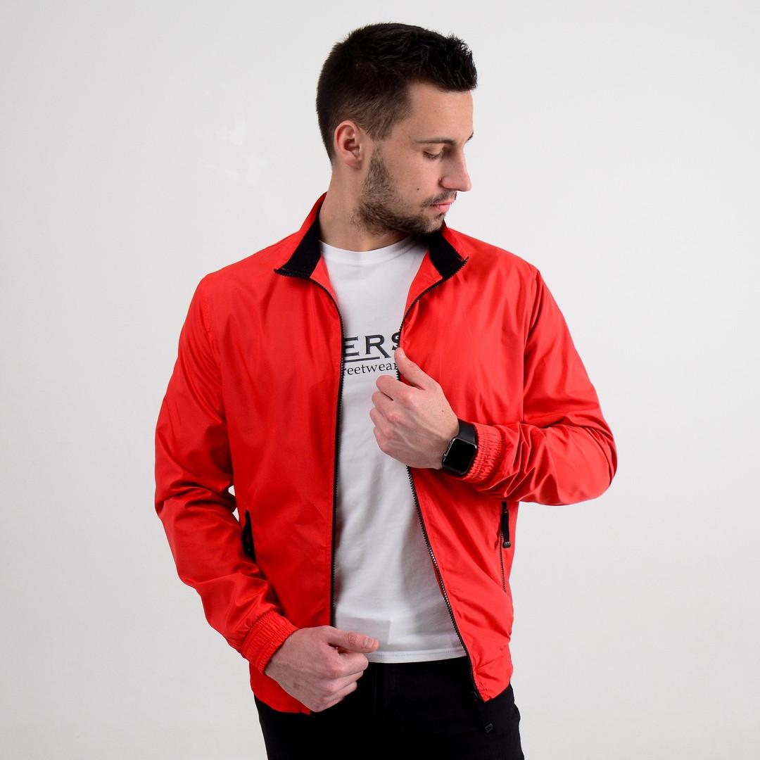 Мужская весенняя куртка Monaco (Red), красная мужская куртка Монако