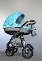 Универсальная коляска 2 в 1 Ajax Group Cyan,  серый+я.голубой (98/31)