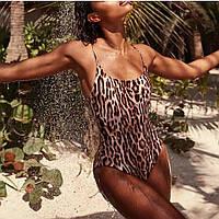 Цельный Леопардовый купальник, фото 1