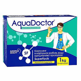 Флокулянт (коагулянт) у картриджах (8шт) для води басейну Superflock AquaDOCTOR , 1 кг