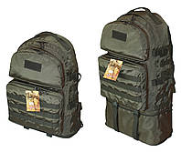 Тактический туристический крепкий рюкзак трансформер 40-60л афган. Армия,рыбалка,спорт,туризм,охота