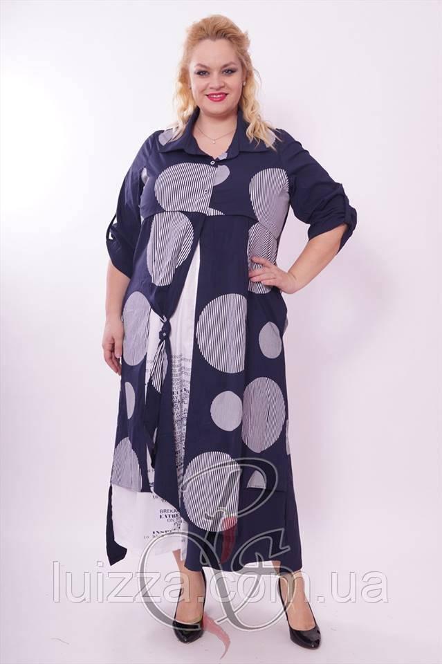 Женское турецкое платье Pompadur 52-64р