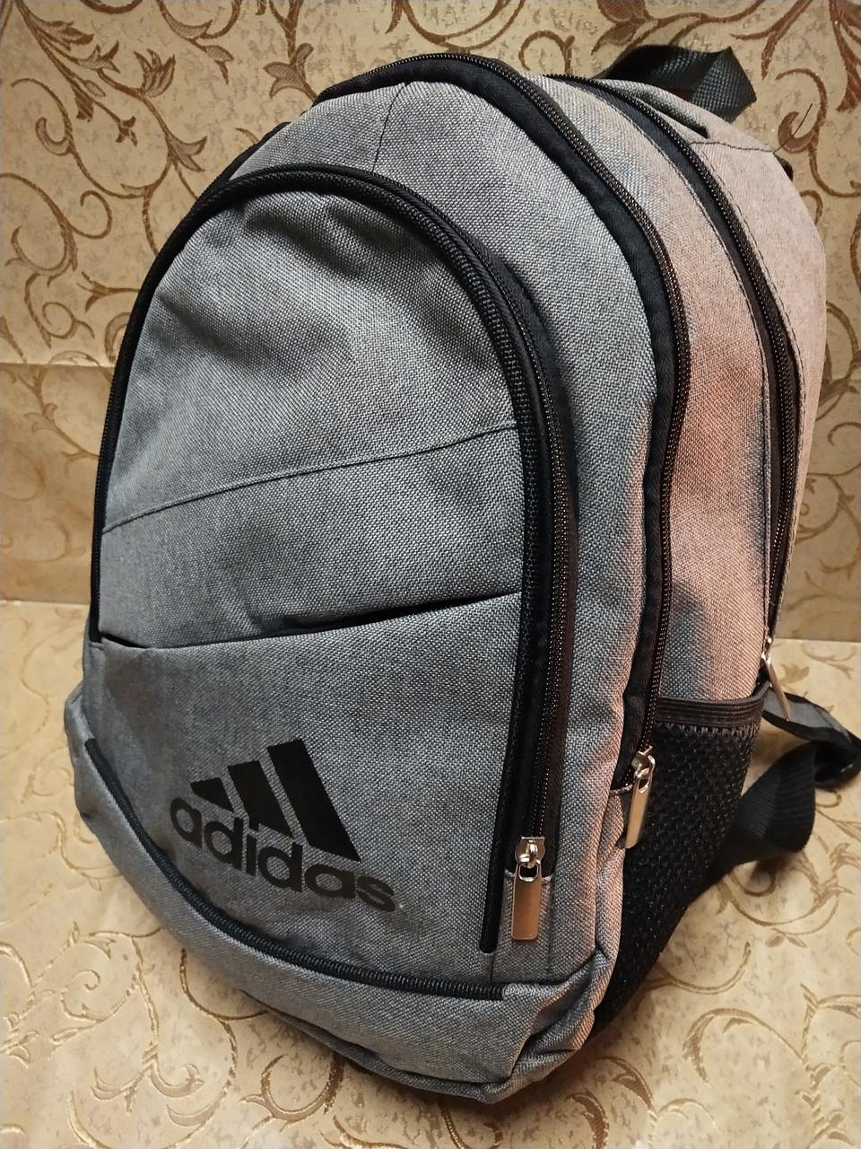 (39*22-маленький)Рюкзак спортивный ADIDAS мессенджер городской опт