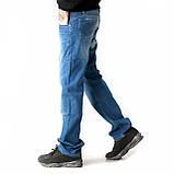 Мужские джинсы прямые FB 3420 Mos 3021 синие, фото 4