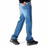 Мужские джинсы прямые FB 3420 Mos 3021 синие, фото 3