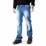 Мужские джинсы прямые FB 3420 Mos 3021 синие, фото 2