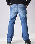 Мужские джинсы прямые FB 3420 Mos 3021 синие, фото 5