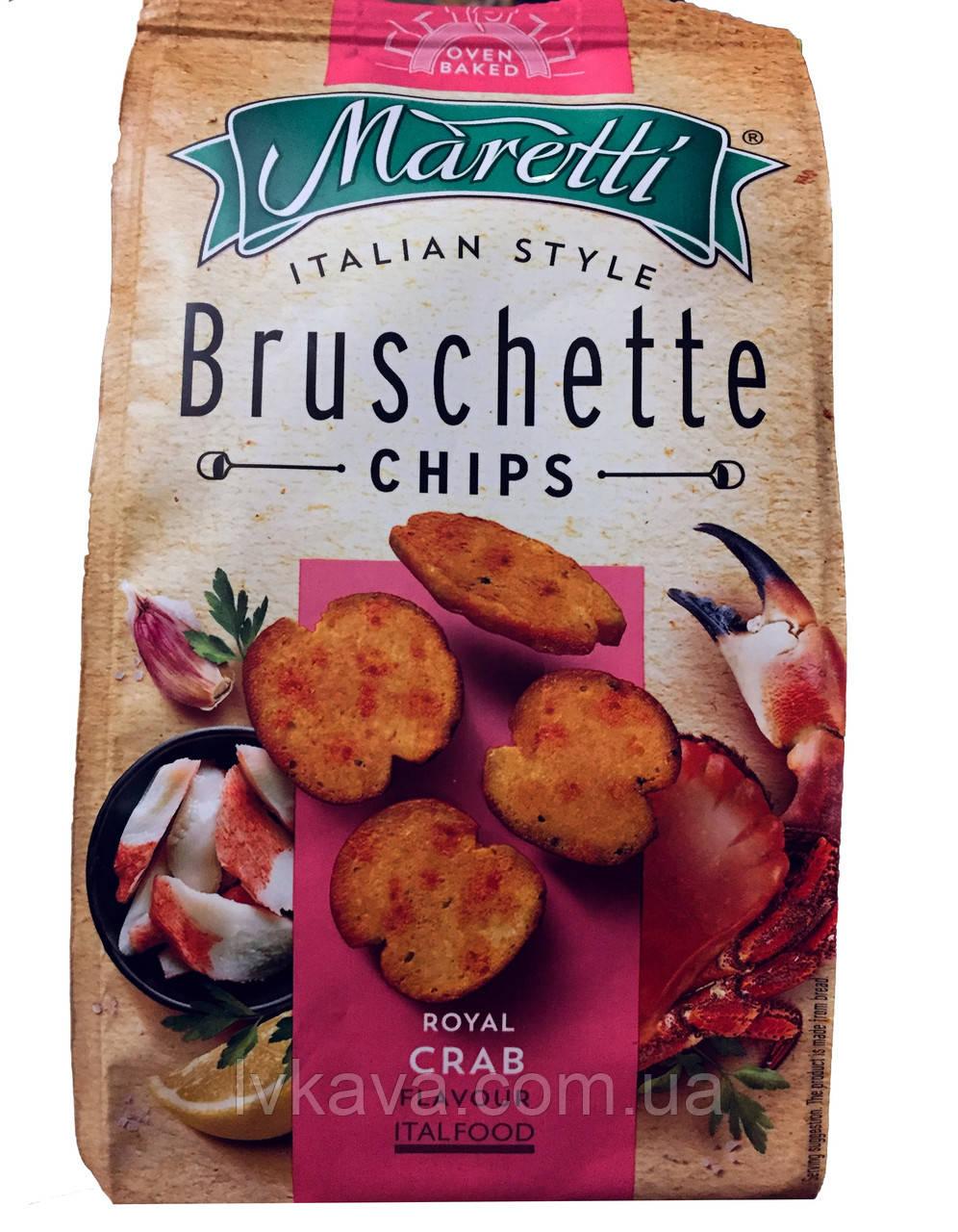 Гренки Bruschette Royal Crab  Maretti, 70 гр