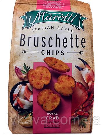 Гренки Bruschette Royal Crab  Maretti, 70 гр, фото 2