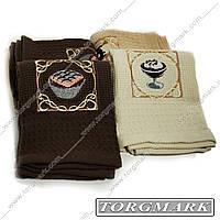 Кухонное вафельное полотенце (Coffe) Турция  40х60см 2 шт в наборе., фото 1