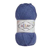 Турецкая пряжа для вязания Alize My baby(май беби) 100% акрил для детей - 353 джинс