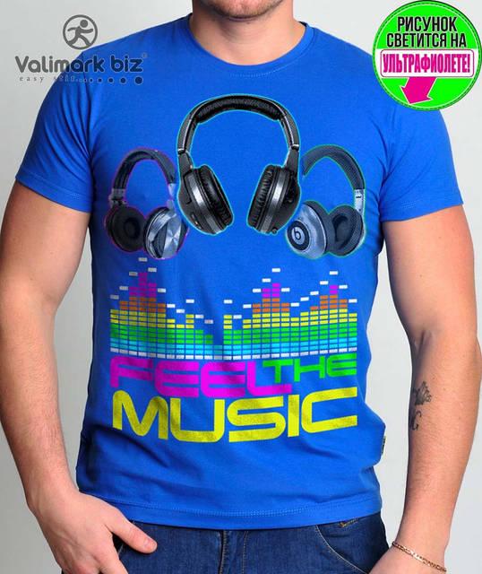 """Футболка мужская  """"Feel the Music""""  Valimark biz"""