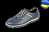 Мужские спортивные туфли на шнуровке перфорированные mida 13965син синие   летние