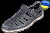 Мужские туфли стиля джинс пнрфарированные на подошве из полеуритана и рантовом шве mida 13959кр.ч чё