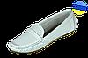 Женские мокасины кожанные с ортопедической стелькой mida 23430бел белые   летние