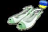 Женские босоножки на полиуретановой подошве mida 23440бел.салат белые   летние