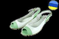 Женские босоножки на полиуретановой подошве mida 23440бел.салат белые   летние , фото 1