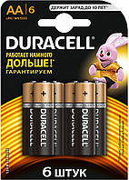 Батарейки пальчиковые DURACELL LR6 AA 6 шт