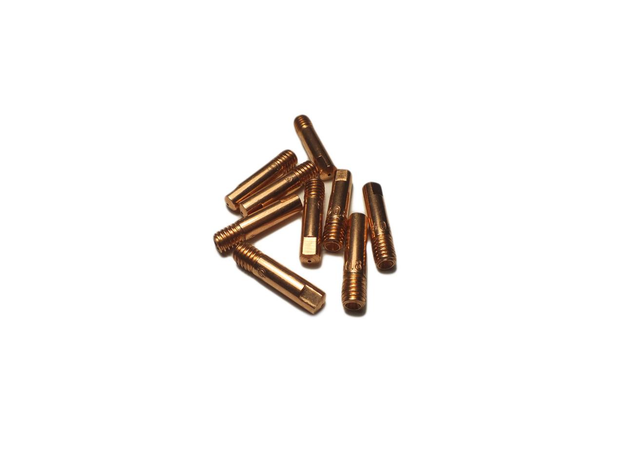 Токос'емноє наконечник для зварювальних напівавтоматів E-Cu ф0,8;1.0;1.2/М6/25