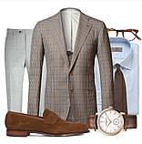 Пиджак шерстяной серый в клетку Brooks Brothers (56), фото 6
