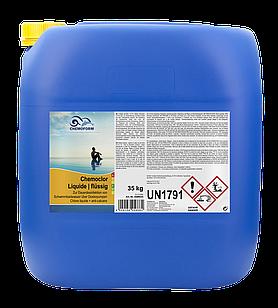 Хлор жидкий 13%, Chemoform - 35 кг