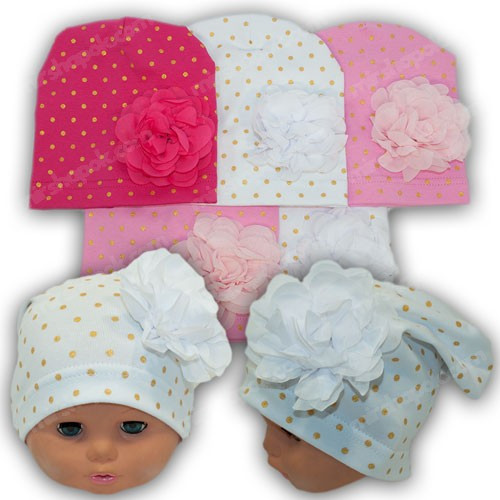 Трикотажные шапки для малышей, р. 44-46