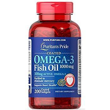 Рыбий жир Puritan's Pride Omega 3 Fish Oil 1200mg  200 caps