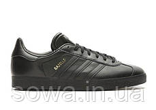 "✔️ Кроссовки Adidas Gazelle Leather ""Black"", фото 2"
