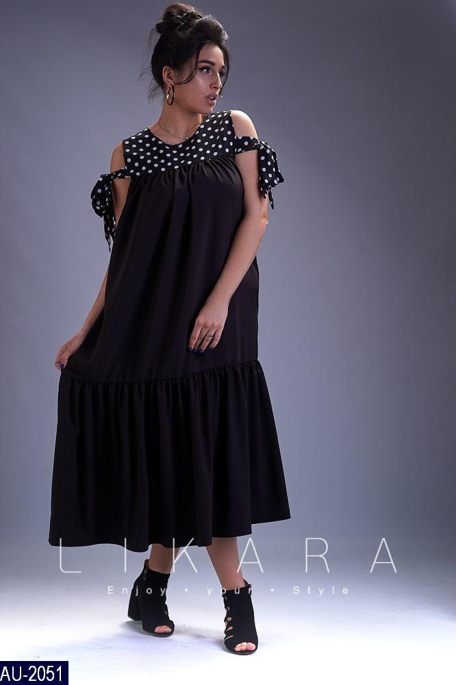 cefc57811e2 Женское платье в горошек раз.50-52