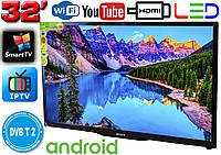 "Телевизор SmartTV SONY 32"" 4K 3840x2160,LED, IPTV, Android 9, T2, WIFI, USB, HDMI Bluetooth КОРЕЯ!"