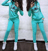 """Модный женский спортивный костюм больших размеров """"Конверс"""" - размеры XXL, 3XL, 4XL"""
