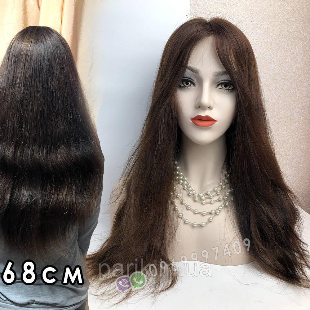 Уценка! Парик из натуральных волос с имитацией кожи головы