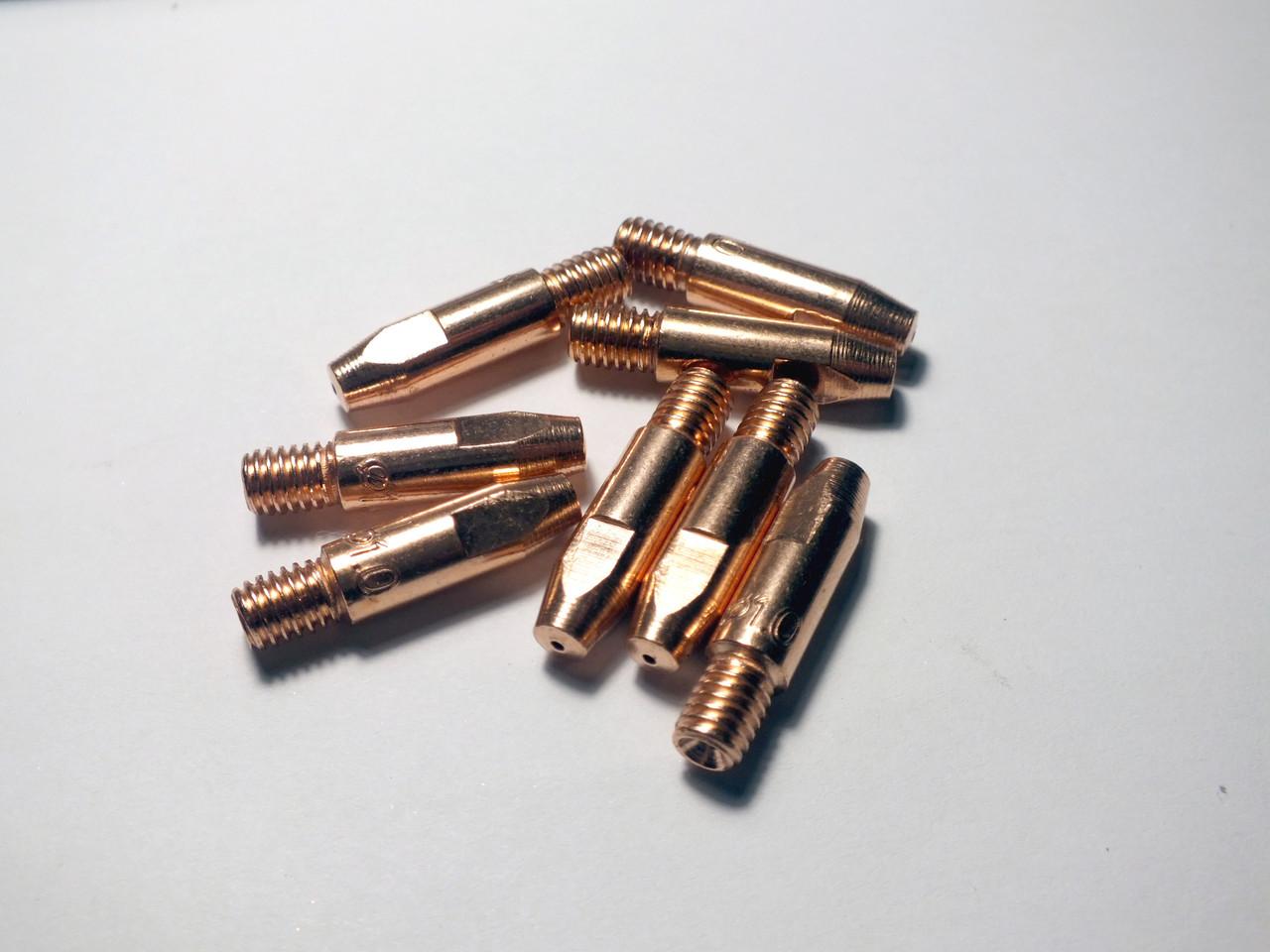 Токосъемный наконечник усиленный для сварочных полуавтоматов E-Cu ф1.0/М6/28