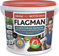 Краска для деревянных и бетонных полов FLAGMAN Bettex AQUA (жёлтая) 11 л, фото 1