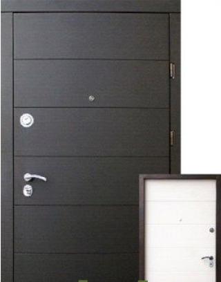 Двері X 001 Еліт венге/білий суппермат «Стильні двері» (Україна)