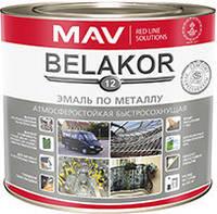 Эмаль Belakor 12 по металлу атмосферостойкая быстросохнущая (белый) 2,4 л, фото 1