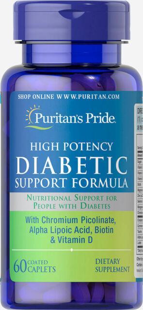 Вітаміни для людей з діабетом Puritan's Pride Diabetic Support Formula 60 caps