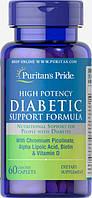Витамины для людей с диабетом Puritan's Pride Diabetic Support Formula 60 caps