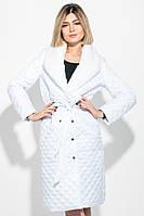 Пальто женское стеганное, с мехом 69PD1059 (Белый)