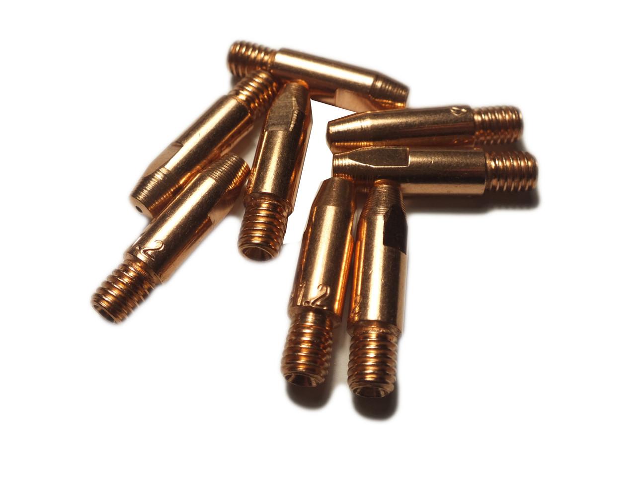 Токосъемный наконечник усиленный для сварочных полуавтоматов E-Cu ф1.2/М6/28