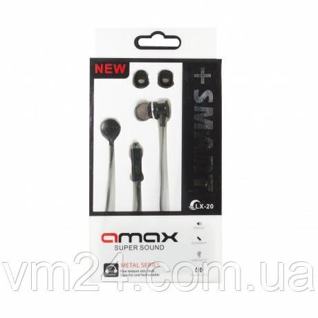 Наушники с гарнитурой AMAX LX20 + SMART черные