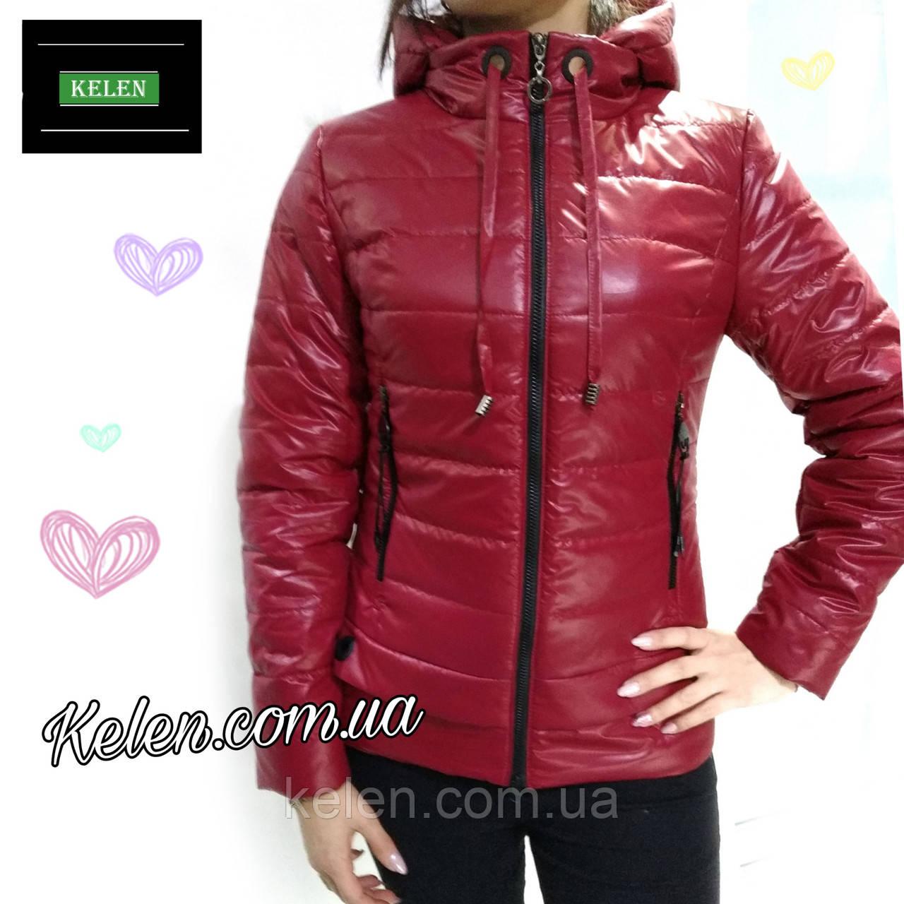 Куртка короткая демисезонная красная